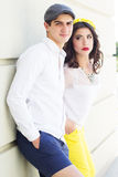Young fashion couple in love Stock Photos
