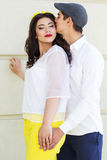 Young fashion couple woman and man Stock Photo