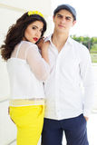 Young fashion couple woman and man Stock Images