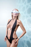 Young fashion futuristic woman Royalty Free Stock Image