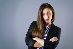 Young fashion girl posing stock photo