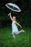 Young fashion girl with umbrella Stock Photo