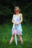 Young fashion girl with umbrella Royalty Free Stock Photos