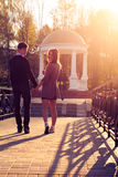 Young fashion Hipster couple in love royalty free stock image