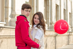 Young fashion Hipster couple in love stock photography