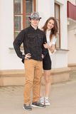 Young fashion Hipster couple Royalty Free Stock Photos
