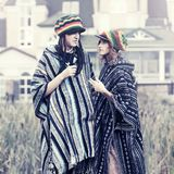Young fashion hipster couple walking outdoor royalty free stock photography