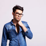 Young fashion male model Stock Photo