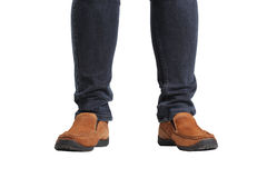 Young fashion man's legs Royalty Free Stock Image