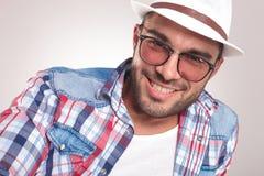 Young fashion man smiling at the camera Royalty Free Stock Photography