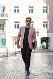 Young fashion man on the street European city Stock Photography