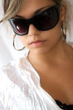 Young fashion model. With sunglasses Stock Photo