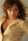 Young fashion model. Young girl fashion model posing Stock Image