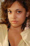 Young fashion model. Young girl fashion model posing royalty free stock photo