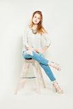 Young Fashion Model. Fashion Photo Stock Images
