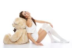Young fashion model posing stock image