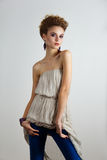 Young fashion model posing Stock Photo