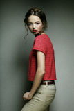 Young fashion model. Royalty Free Stock Images
