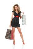 Young fashion model at shopping Royalty Free Stock Image