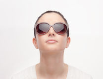 Young fashion model with sunglasses Royalty Free Stock Images