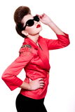 Young fashion woman with bright make-up Royalty Free Stock Image