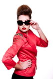 Young fashion woman with bright make-up Stock Photography