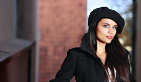 Young fashion woman  in the city street. Stock Image