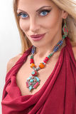 Young fashion woman with indian jewelry Royalty Free Stock Photos