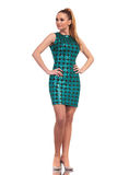 Young fashion woman wearing a elegant dress Royalty Free Stock Photography