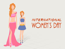 Young fashionable girls for International Womens Day celebratio Royalty Free Stock Images