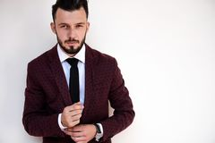 Portrait of fashionable man royalty free stock images