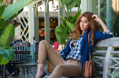 Young fashionable woman Stock Photos