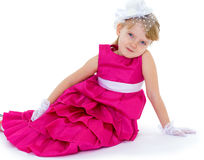 Young fashionista in red Stock Images