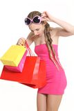 Young fashionista to shop Stock Photos