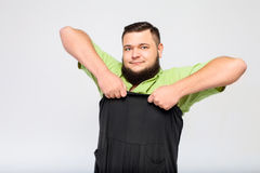 Young fat man Stock Image