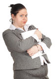 Young fat woman student Stock Photo