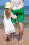 Young father and adorable little daughter outdoors Royalty Free Stock Photo
