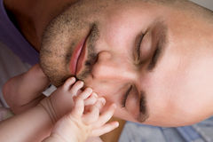 Young father and baby girl Royalty Free Stock Photo