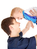 Young Father and Baby Stock Photography