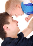 Young Father and Baby Stock Photos