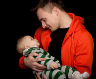 Young father with baby son Stock Photo