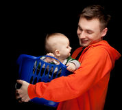 Young father with baby son Royalty Free Stock Photo