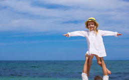 Young father and cute little daughter have fun Stock Photography