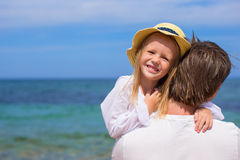 Young father and cute little daughter have fun Royalty Free Stock Photos
