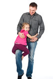 A young father and daughter playing Stock Photo