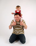 Young father with his addorable daughter. Interesting composition with young father with his addorable daughter Royalty Free Stock Image