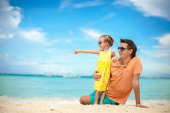 Young father and his adorable little daughter have Royalty Free Stock Images