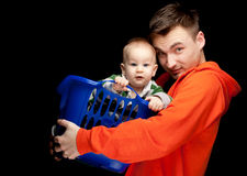 Young father with his baby son Stock Image