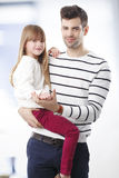 Young father and his cute daughter Royalty Free Stock Photo