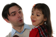 Young father and his daughter Stock Photo
